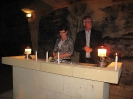 5. Don and Tammy lightning candles in the Cave